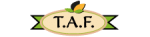 Logo T.A.F taste a different flavor
